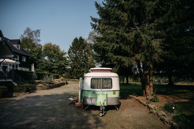 """Unsere mobile Fotobox im Caravan """"Lucie"""" - von vorne"""