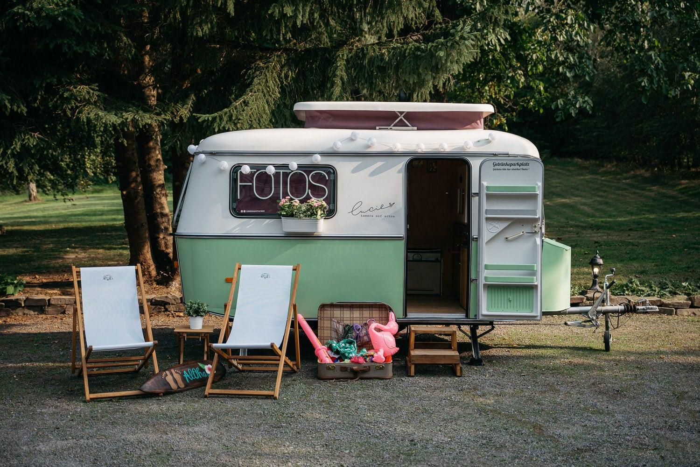 """Unsere mobile Fotobox im Caravan """"Lucie"""" - Ansicht"""